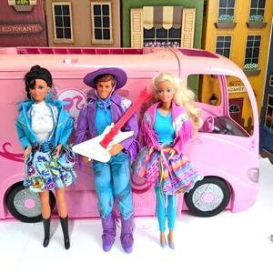 1989 Vintage Western Fun Barbie Ken and Nia